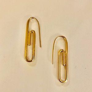 Paperclip styled earrings